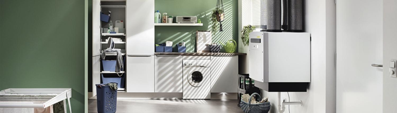 profi-air touch Lüftungsgerät im Hauswirtschaftsraum